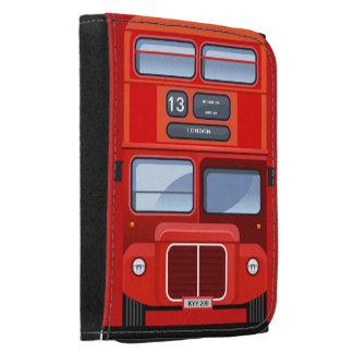 Cartera roja del autobús del autobús de dos pisos