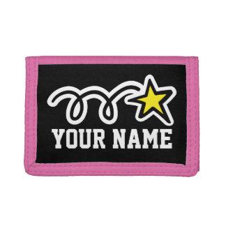 Cartera rosada de la estrella para el nombre de lo