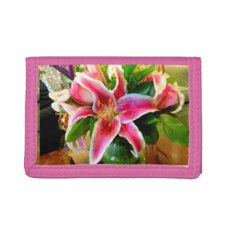 cartera rosada del lirio del stargazer