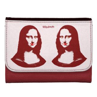 Cartera transparente de Mona Lisa del arte pop