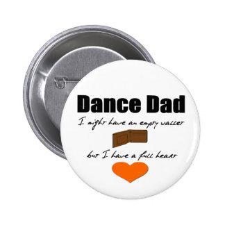 Cartera vacía del papá de la danza, corazón comple pins