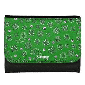 Cartera verde del pañuelo