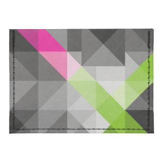Cartera vibrante geométrica abstracta de los tarjeteros tyvek®