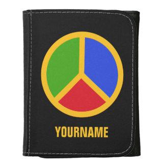 Carteras coloridas del signo de la paz