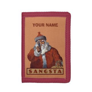 Carteras de encargo del monograma de Gangsta Santa