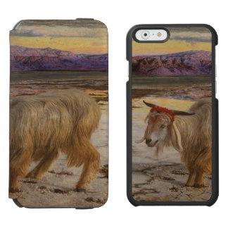 Carteras del teléfono del arte del chivo funda billetera para iPhone 6 watson