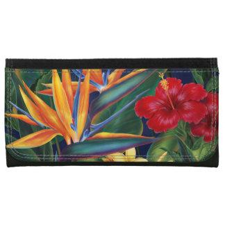 Carteras florales hawaianas del paraíso tropical