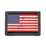 Carteras patrióticas con la bandera americana del