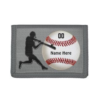 Carteras personalizadas del béisbol para los indiv