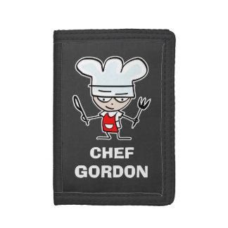Carteras y monederos del cocinero del cocinero