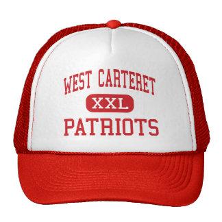 Carteret del oeste - patriotas - alto - ciudad de  gorros
