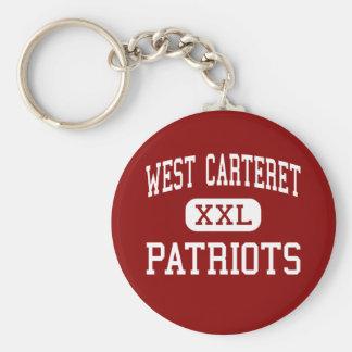 Carteret del oeste - patriotas - alto - ciudad de  llaveros