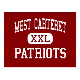 Carteret del oeste - patriotas - alto - ciudad de  tarjeta postal