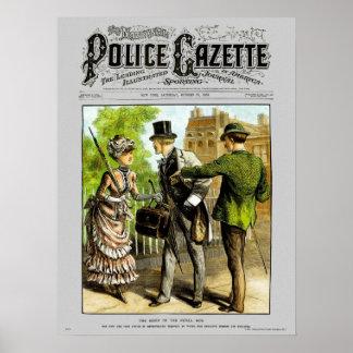 Carterista del poster de la gaceta de la policía