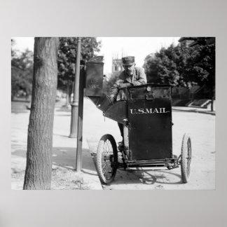 Cartero de la motocicleta: 1912 impresiones