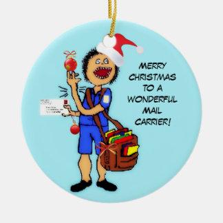 Cartero de las Felices Navidad Ornato