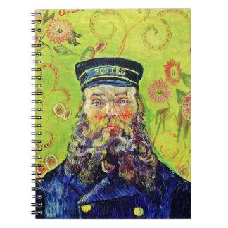 Cartero José Roulin Vincent van Gogh del retrato Libros De Apuntes Con Espiral