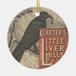 Carter's Little Liver Pills Ephemera Ceramic Ornament