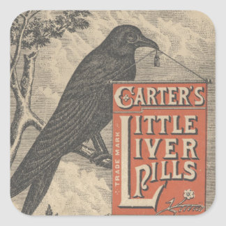 Carter's Little Liver Pills Ephemera Square Sticker