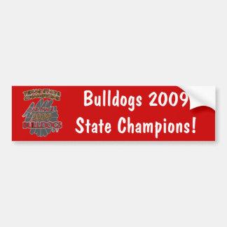 Carthage Bulldogs 2009 Texas Football Champions! Bumper Sticker