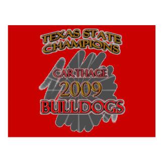 Carthage Bulldogs 2009 Texas Football Champions! Postcard