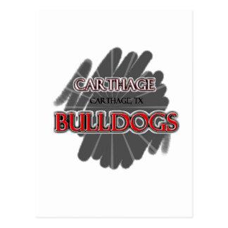 Carthage High School Bulldogs - Carthage, TX Postcard