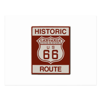Carthage Route 66 Postcard