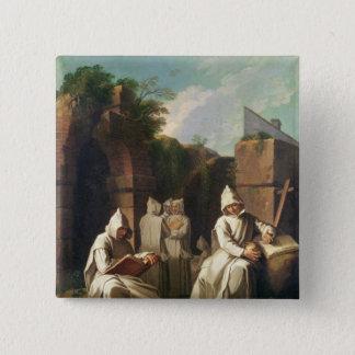 Carthusian Monks in Meditation Button