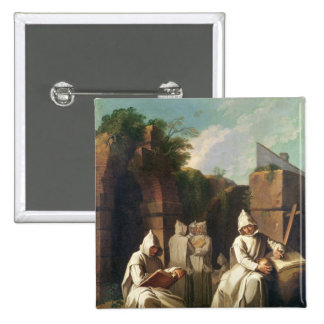 Carthusian Monks in Meditation Button