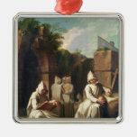 Carthusian Monks in Meditation Christmas Ornament