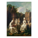 Carthusian Monks in Meditation Greeting Card