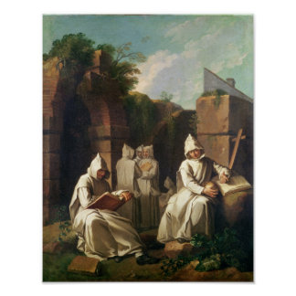 Carthusian Monks in Meditation Poster
