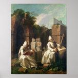 Carthusian Monks in Meditation Print