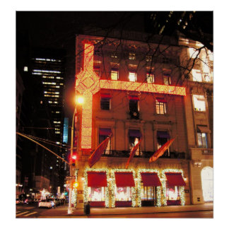 Cartier Store NYC Christmas 2010 Canvas Print