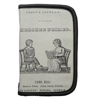 Cartilla cherokee, 1845 (grabado) organizadores
