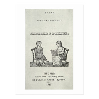 Cartilla cherokee, 1845 (grabado) postal