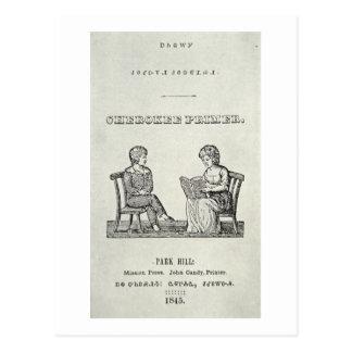 Cartilla cherokee, 1845 (grabado) tarjetas postales