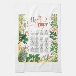 Cartilla de la hierba toallas de mano