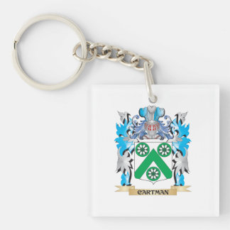 Cartman Coat of Arms - Family Crest Square Acrylic Key Chain