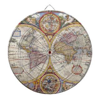 Cartografía antigua del mapa de Viejo Mundo del