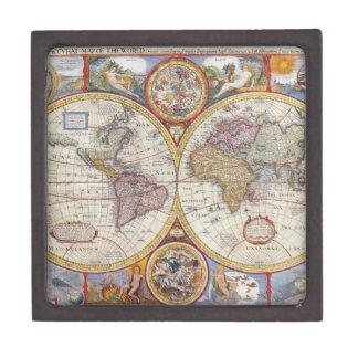 Cartografía antigua del mapa de Viejo Mundo del Caja De Regalo De Calidad