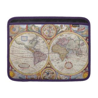 Cartografía antigua del mapa de Viejo Mundo del Funda MacBook