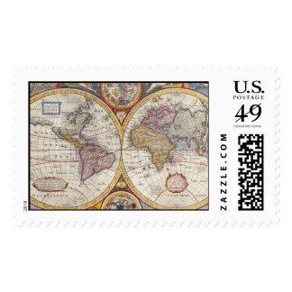 Cartografía antigua del mapa de Viejo Mundo del Envio