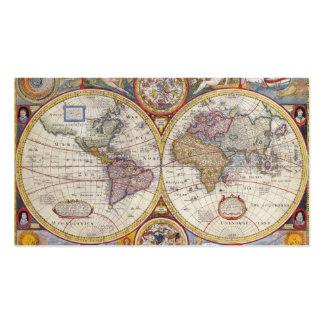Cartografía antigua del mapa de Viejo Mundo del Tarjetas De Visita