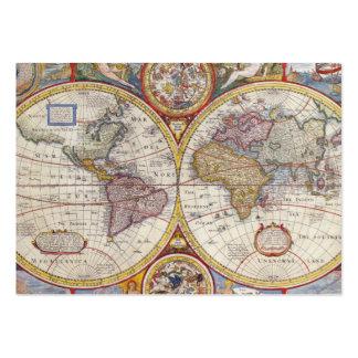 Cartografía antigua del mapa de Viejo Mundo del Tarjetas De Visita Grandes