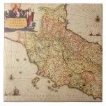 Cartografía del renacimiento azulejo cuadrado grande