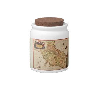 Cartografía del renacimiento jarra para caramelo