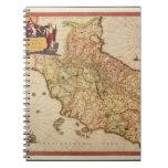 Cartografía del renacimiento libros de apuntes con espiral