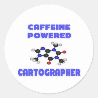 Cartógrafo accionado cafeína
