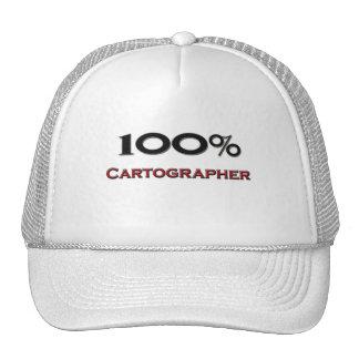 Cartógrafo del 100 por ciento gorras de camionero